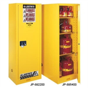 Justrite® Flammable Cabinet, 54 gal Deep Slimline, Self-Closing