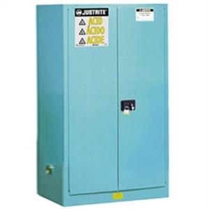 Justrite® Acid Safety Cabinet, 60 gallon Blue, Self-Closing