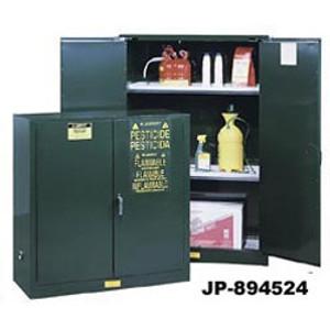 Justrite® Pesticide Cabinet, 60 gallon green, Self-Closing