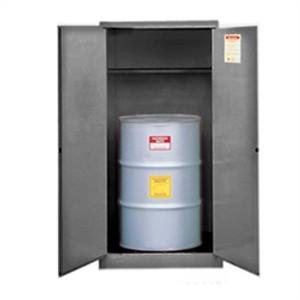 Justrite® Flammable Drum Cabinet, 55 gal Gray, Self-Closing