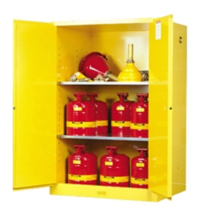 Justrite® Flammable Safety Cabinet, 90 gallon, Self-Closing