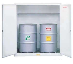 Justrite® Flammable, Vertical Drum Cabinet, 2-Drum, White manual