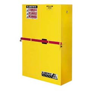 Justrite® High Security Safety Cabinet, 45 gal for Flammables yellow self-closing