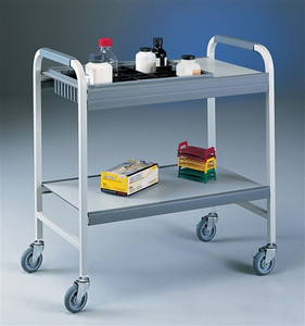 "Lab Cart, Utility Cart, Flexi-Bin Epoxy-coated Steel, 4"" bin"