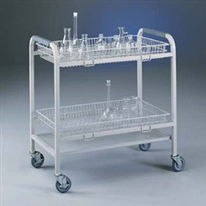 Lab Cart, Glassware Laboratory Cart with 2 Baskets