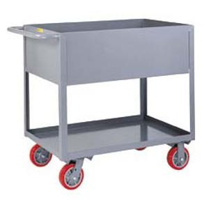 """Steel Utility Cart, 12"""" Deep Sides, Heavy Duty"""