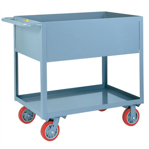 Deep Sided Rolling Utility Cart, Industrial Strength, 18 x 30