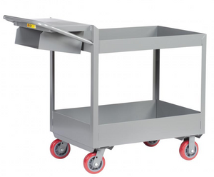 "Rolling Utility Cart, Heavy Duty, 6"" Tray Shelves, 24 x 36"