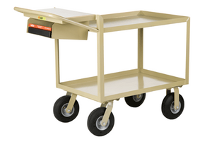Scientific Instrument Cart, Lip Shelves, Pocket, 24 x 36""