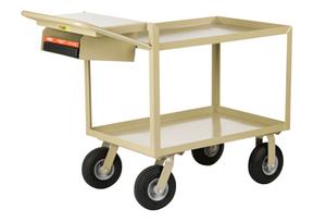 "Scientific Instrument Cart, Lip Shelves, Pocket, 24 x 48"""