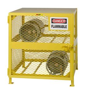 Gas Cylinder Storage Cabinet, Horizontal Storage, 4 LPG Cylinders