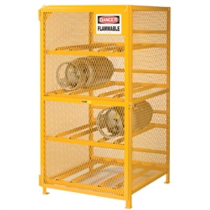 Gas Cylinder Storage Cabinet, Horizontal, 8 LPG Cylinders