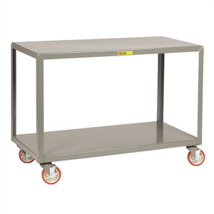 "Mobile Work Tables, Rugged Steel, 24"" x 48"""