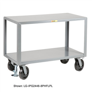 Industrial Strength Mobile Work Table, Locking, 24 x 48
