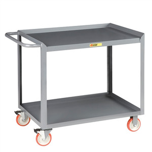 "Mobile Workstation, 2-Shelf, Heavy Duty, 24"" x 48"""