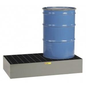 Spill Control Platform, Steel, High Platform, 2-Drum, 66 gal sump