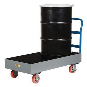 Platform Truck for Drum/ Mobile Spill Pallet, 33 gal capacity