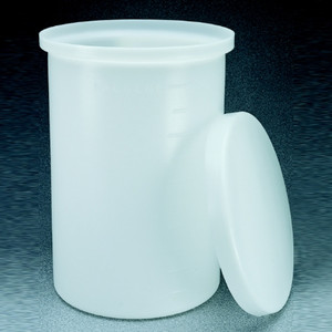 Nalgene® 11100-0007 Cylindrical Tank with Cover, LLDPE, 7.5 gallon