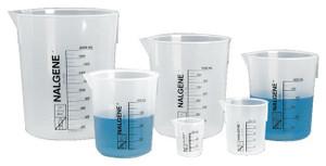 Nalgene® 1201-0600 PP Beakers, Low-form Griffin Beaker, 600mL, case/24