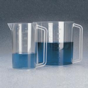 Nalgene® Beaker with Handle, Graduated, PMP, 1 Liter, case/6