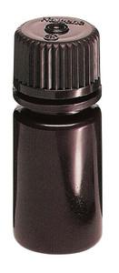 Nalgene® 2004-0002 Amber Boston Round Bottles, 2 oz Heavy Duty HDPE with PP Screw Caps, case/72