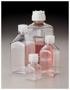 Nalgene® 2015-1000 Square Bottles, 1 Liter Polycarbonate Autoclavable 38-430 cap, case/24