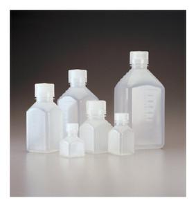Nalgene® 2016-0125 Graduated Square Bottles, PP, 4 oz (125mL), case/72