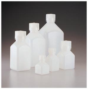 Nalgene® 2018-0125 HDPE, Square Bottles, 4 oz (125mL), case/72