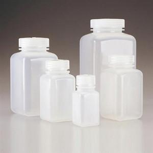 Nalgene® 2110-0016 Square Bottles, Wide Mouth, PPCO, 16 oz (500mL), case/48