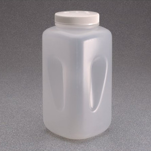 Nalgene® Square Bottles, 4 Liter, Autoclavable Wide Mouth Polypropylene, case/6