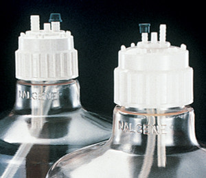 Nalgene® Filling Caps, 53B for 6mm tubing, Polypropylene closure, TPE Gasket, case/6