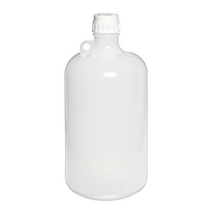Nalgene® 2202-0020 LDPE Bottles, 8 Liter Narrow Mouth 53B with PP closure, case/6