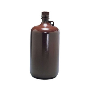 Nalgene® Autoclavable Bottles, 4 Liter Amber Polypropylene, case/6