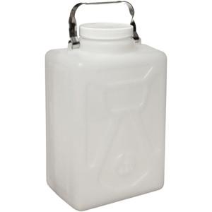 Nalgene® 2211-0020 Rectangular Carboys, 9 Liter HDPE, Steel handle, case/6