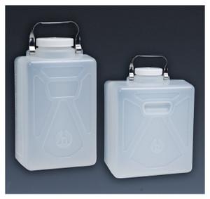 Nalgene® 2212-0020 PP Carboys, Rectangular with SS Handle, 9 Liter, case/6