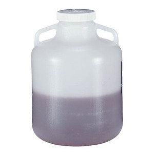 Nalgene® Carboy, Handles, 10 Liter LDPE, 100-415 Screw Cap, case/6