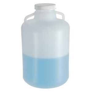 Nalgene® 2234-0050 Carboys, Handles, 20 Liter LDPE, 100-415 Screw Caps, case/4