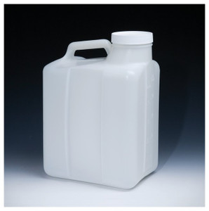 Nalgene® 2241-0050 Jugs, Heavy Duty Wide Mouth HDPE, 20 Liter, case/4