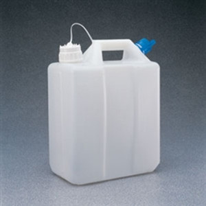 Nalgene® 2243-9013 Jerrican, Grad. HDPE, 13 Liter, 2 ports, 38mm closure, case/4