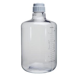 Nalgene® Polycarbonate Carboys, 20 Liter Clear Boy, Cap 83B, case/4