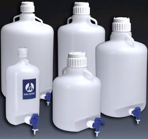 Nalgene® Carboy with Spigot, LDPE, 20 liter, case/4