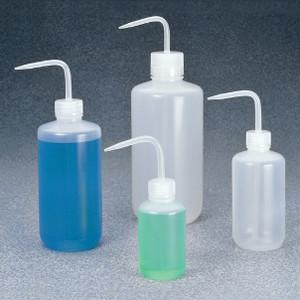Nalgene® Economy Wash Bottles, 8 oz (250mL) LDPE, Polypropylene bent-stem, case/36