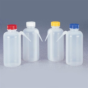 Nalgene® 2423-0500 Wash Bottles, Assorted, Unitary, LDPE/PP, 500mL, case/16