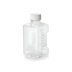 Nalgene® 3025-42 PETG Square Biotainer Bottles, Sterile, 125mL, Lab Pack (Packed in bags of 5), case/100