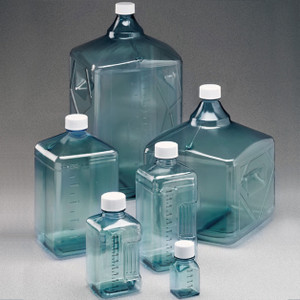 Nalgene® Polycarbonate Square Biotainer Bottles, Sterile, 125mL Lab Pack (Packed in bags of 5), case/50