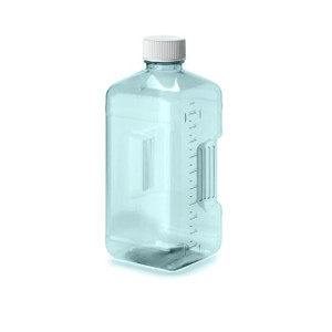 Nalgene® 3120-42 Polycarbonate Square Biotainer Bottles, Sterile, 1 Liter bulk-packaged, case/35