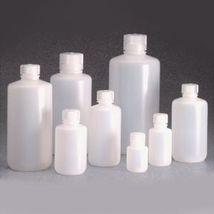 Nalgene® Bulk Boston Round Bottles, 16 oz (500mL) LDPE, case/125