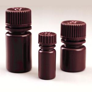 Nalgene® Diagnostic Bottles, 15mL Amber Heavy Duty HDPE, case/2000