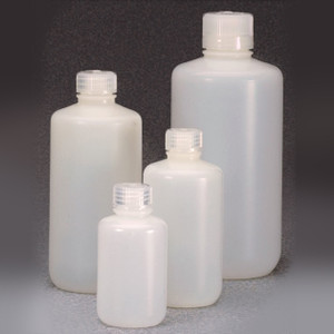 Nalgene® 16 oz (500mL) Fluorinated HDPE Bottles, 28-415 Caps, case/125