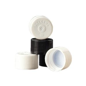 Nalgene® Serum Vial Caps, 20-415 Black HDPE, Bulk, case/2000